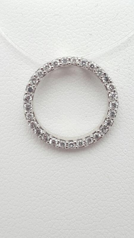 Gold-Multi-Diamond Pendant 23 Diamonds .23 Carat T.W. 14K White Gold 1.2g