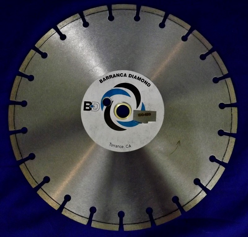 BARRANCA DIAMOND SAW BLADE IDG-62G
