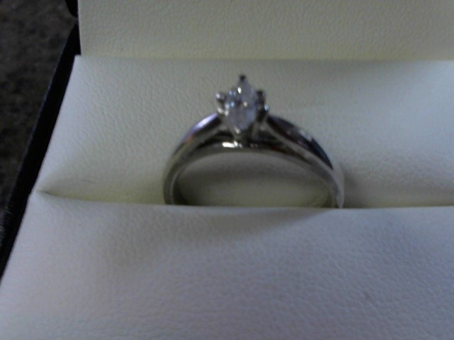 Lady's Diamond Solitaire Ring .25 CT. 10K White Gold 2.7g