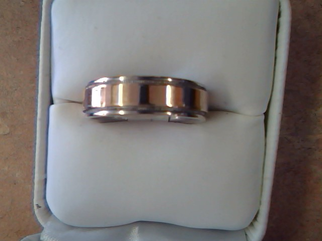 Gent's Gold Wedding Band 10K 2 Tone Gold 7.8g Size:9.8