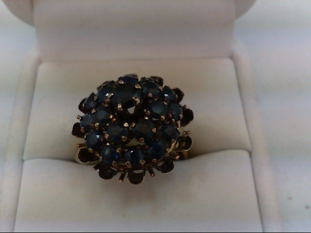 Sapphire Lady's Stone Ring 18K Yellow Gold 6.4g
