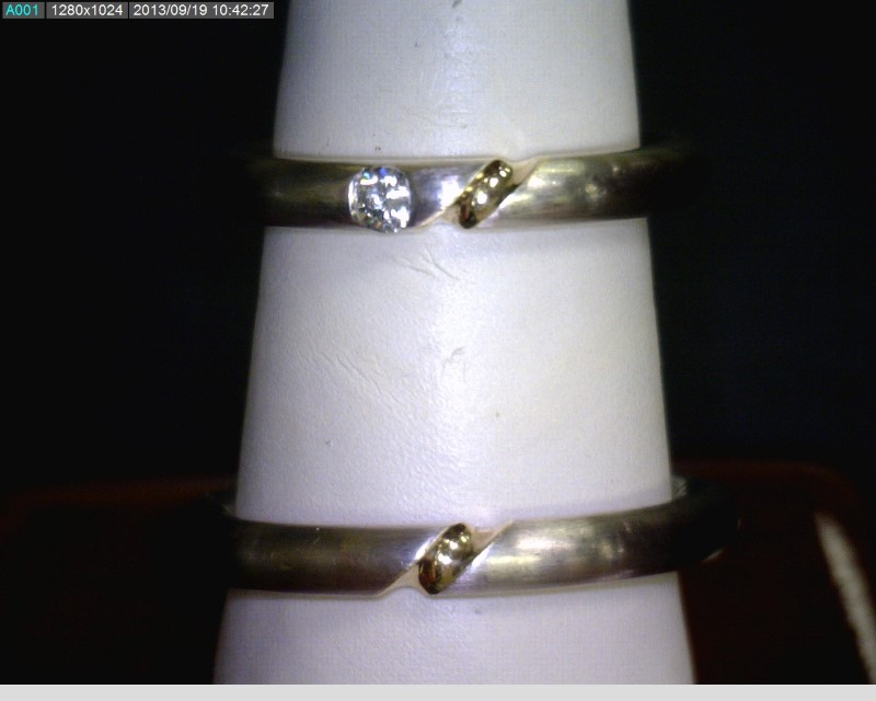 Lady's Diamond Solitaire Ring .07 CT. 18K 2 Tone Gold 4.2dwt Size:6.5