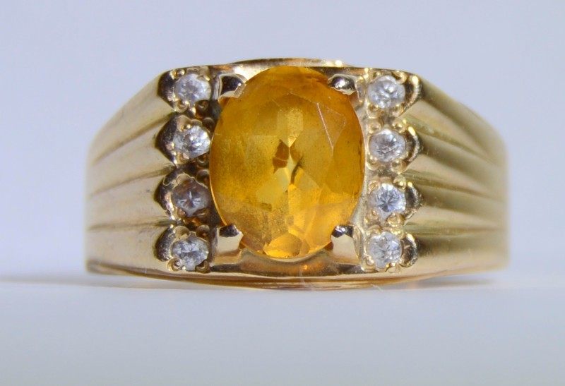 Citrine Ring 14K Yellow Gold 7.1g Size:10