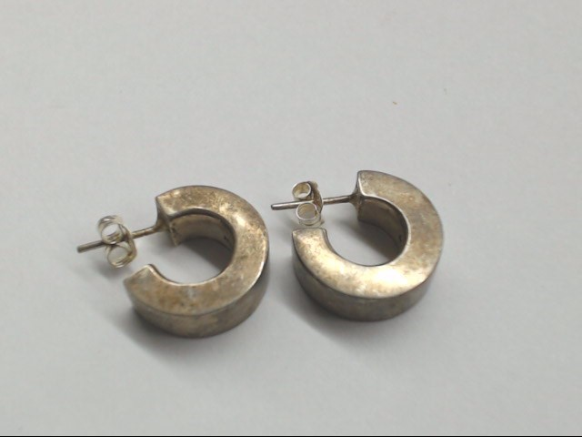 Silver Hoop Earrings 925 Silver 4.5g