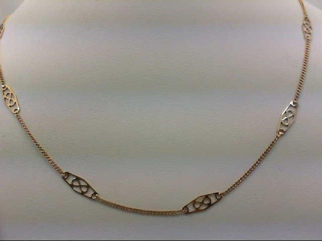 "15"" Gold Fashion Chain 14K Yellow Gold 2.5g"