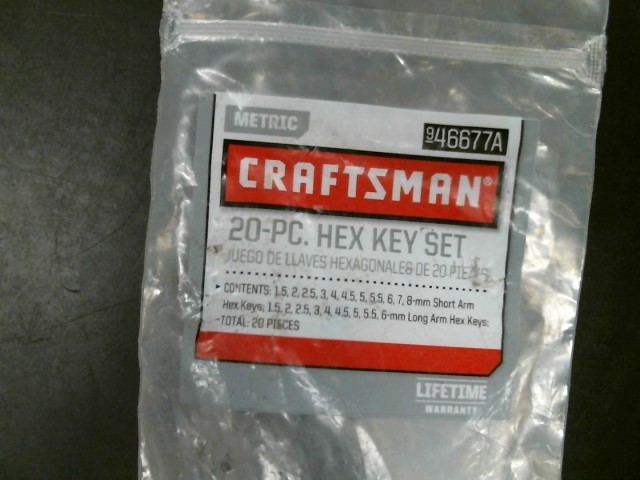 CRAFTSMAN Hand Tool 9-46677A HEX KEY SET