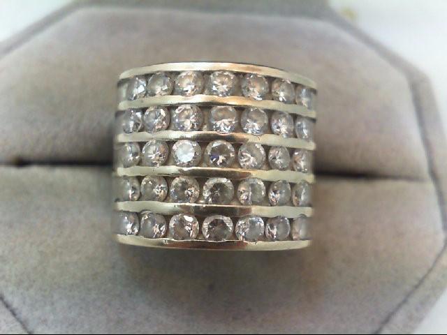 Lady's Gold Ring 14K White Gold 7.9g