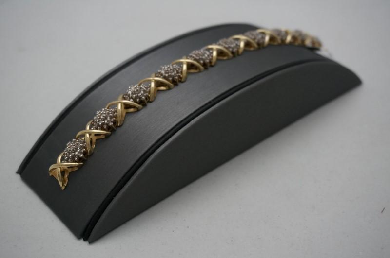 Gold-Diamond Bracelet 210 Diamonds 10.00 Carat T.W. 14K Yellow Gold 24.4dwt