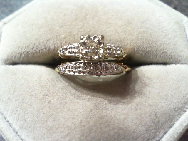 Lady's Diamond Wedding Set .10 CT. 14K 2 Tone Gold 3.9g
