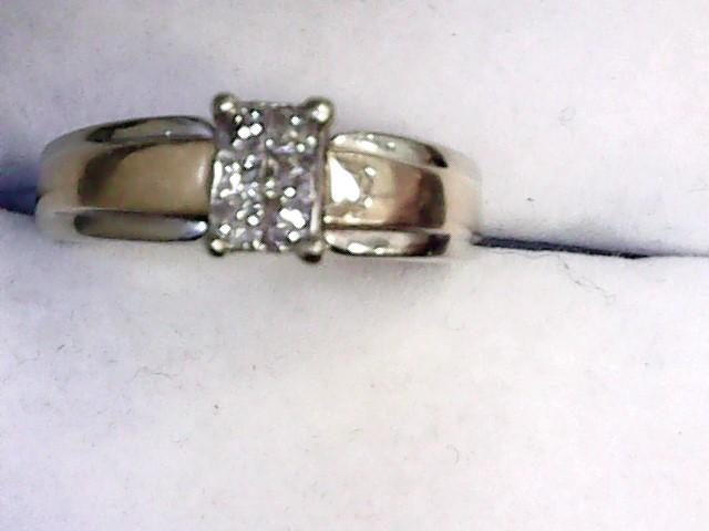 Lady's Diamond Engagement Ring 6 Diamonds .18 Carat T.W. 14K White Gold 3.4dwt