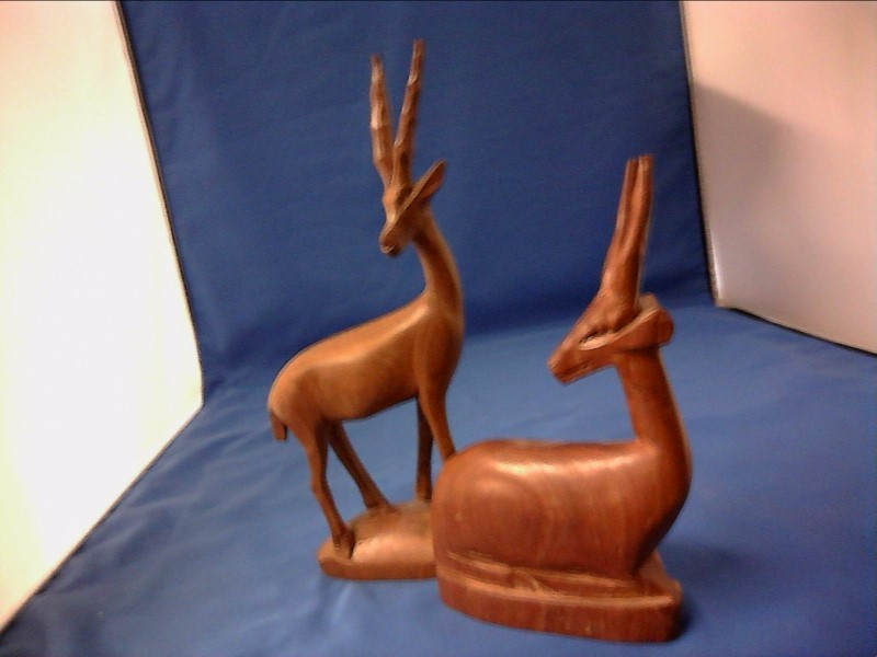 MISC COLLECTIBLES MISC USED MERCH MISC USED MERCH; FIGURE  OF IBEX IN WOOD  SET