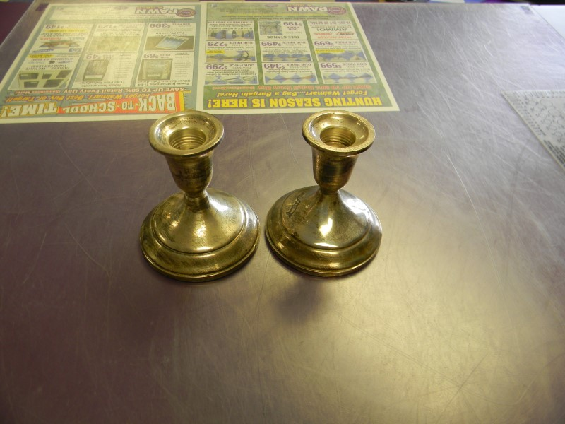VINTAGE CANDLE STICK HOLDERS 925 Silver 399.42g