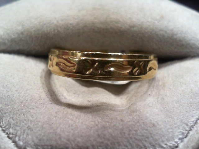 Gent's Gold Wedding Band 14K Yellow Gold 2.9g Size:10.5