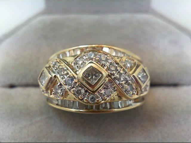 Lady's Diamond Cluster Ring 49 Diamonds 0.7 Carat T.W. 14K Yellow Gold 6.9g