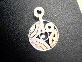 Gold-Multi-Diamond Pendant 105 Diamonds 1.05 Carat T.W. 18K 2 Tone Gold 4.1g