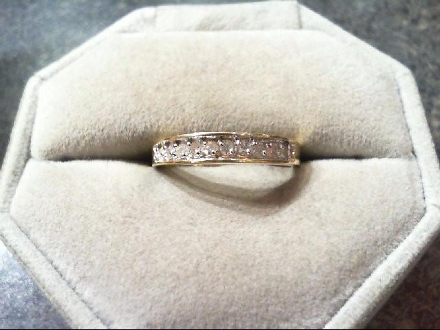 Lady's Diamond Wedding Band 10 Diamonds .30 Carat T.W. 14K Yellow Gold 1.9g