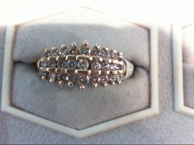Lady's Diamond Fashion Ring 27 Diamonds .45 Carat T.W. 14K Yellow Gold 3.9g