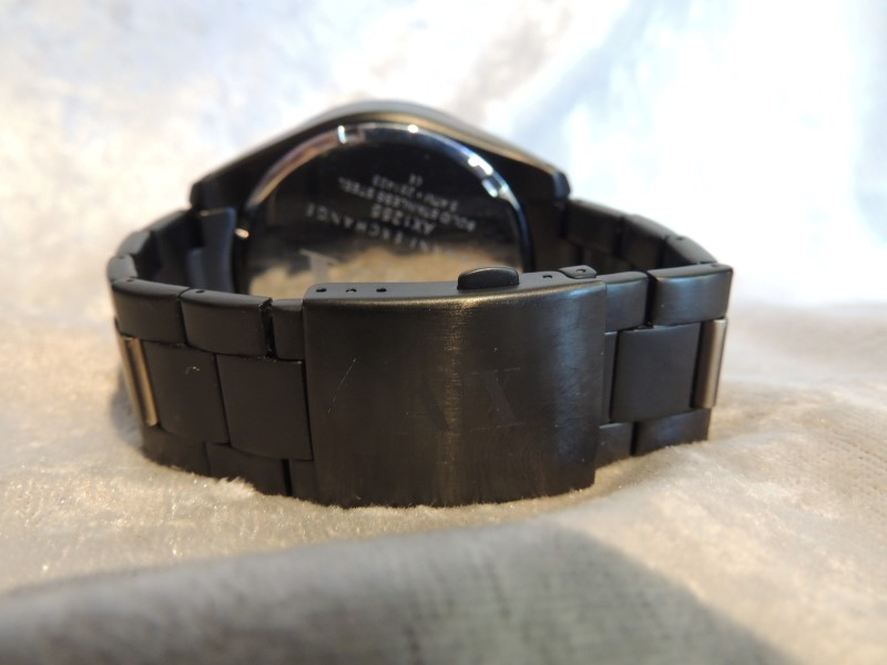 Armani Exchange Chronograph Black Dial Black IP Stainless Steel Mens Watch AX125