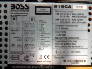 BOSS Car Audio 815CA