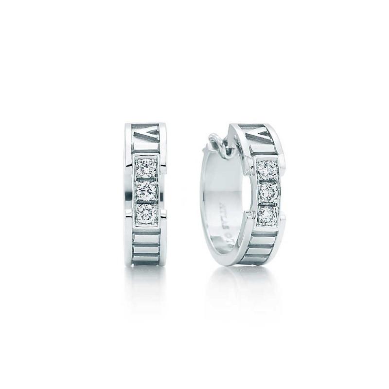 TIFFANY & CO ATLAS DIAMOND EARRINGS