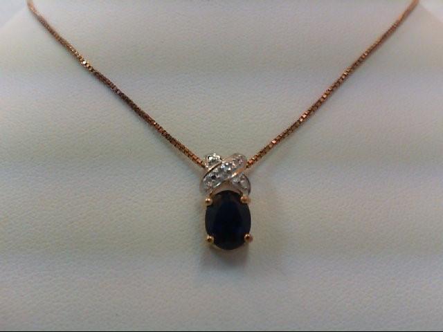 Sapphire Silver-Stone Pendant 925 Silver 3.6g