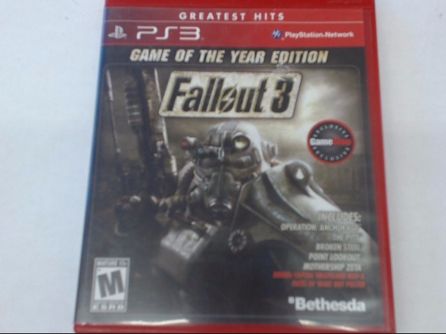 SONY PS3 FALLOUT 3 GAME OF THE YEAR EDITION
