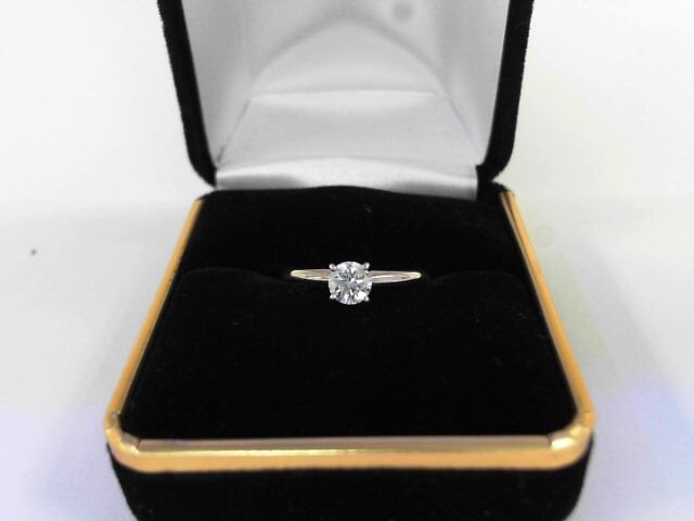 Lady's Diamond Solitaire Ring .36 CT. 14K Yellow Gold 1.4dwt
