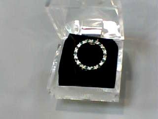 Synthetic Emerald Gold-Diamond & Stone Pendant 14 Diamonds .14 Carat T.W.