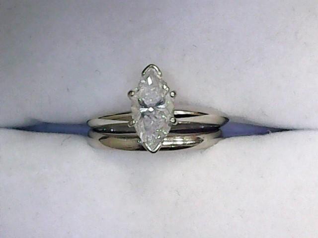 Lady's Diamond Wedding Set .96 CT. 14K White Gold 2.34dwt