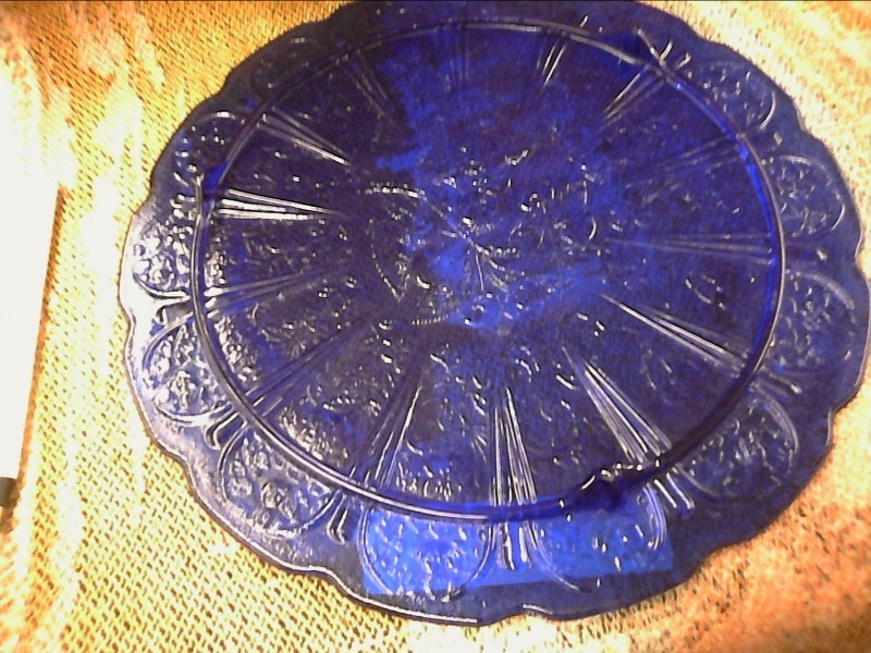 MISC NEW MISC NEW MISC AA IMPORTING PG16304; PG16304 REPROD. COBALT CAKE PLATE