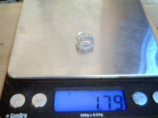 Silver-Diamond Pendant 45 Diamonds .45 Carat T.W. 925 Silver 1.8g
