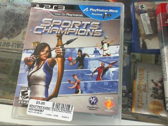 SPORTS CHAMPION PS3