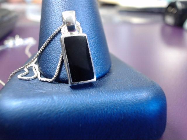 Onyx Silver-Stone Pendant 925 Silver 2.7g