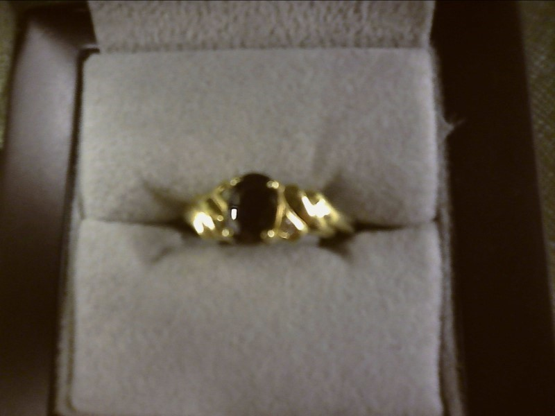 Sapphire Lady's Stone Ring 10K Yellow Gold 1.56dwt