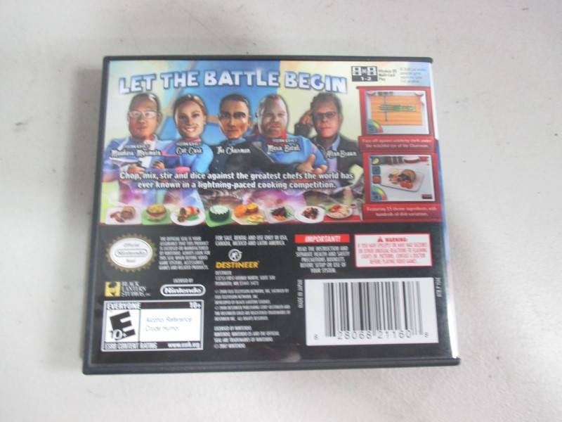 IRON CHEF AMERICA Supreme Cuisine DS GAMES