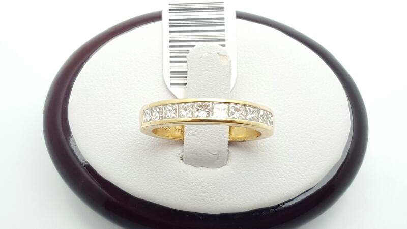 Lady's Gold-Diamond Anniversary Ring 10 Diamonds 1 Carat T.W. 14K Yellow Gold 3.
