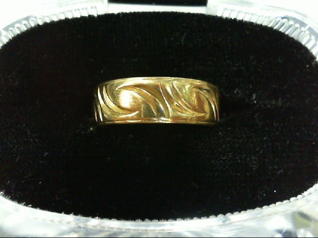 Lady's Gold Ring 18K Yellow Gold 3.8g