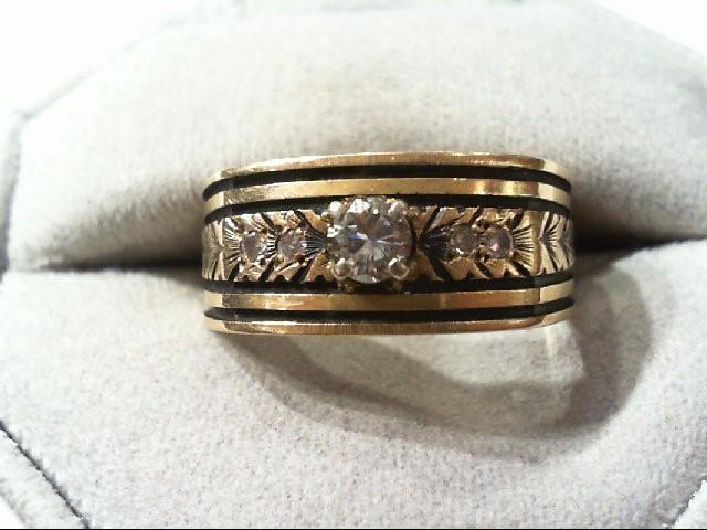 Lady's Diamond Wedding Band 5 Diamonds .34 Carat T.W. 14K Yellow Gold 7.1g