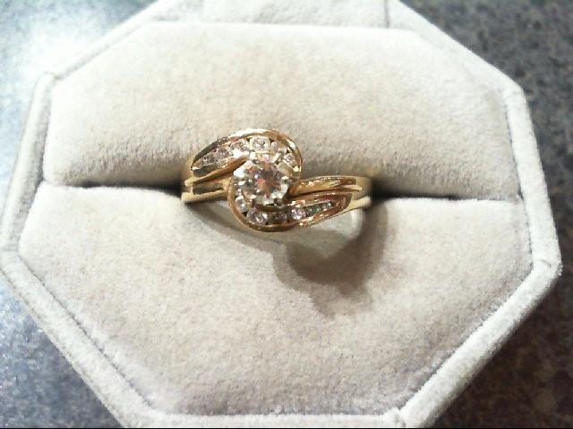 Lady's Diamond Wedding Set 15 Diamonds .56 Carat T.W. 14K Yellow Gold 5.5g