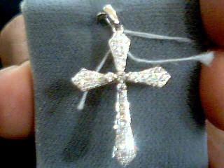Gold-Multi-Diamond Pendant 64 Diamonds .84 Carat T.W. 14K White Gold 1.9g