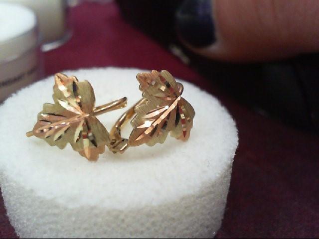 Gold Earrings 10K Tri-color Gold 0.3g