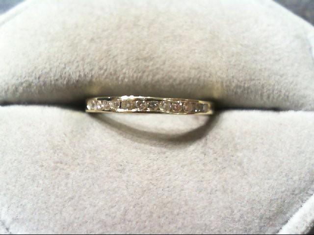 Lady's Diamond Wedding Band 12 Diamonds .24 Carat T.W. 14K Yellow Gold 1.1g
