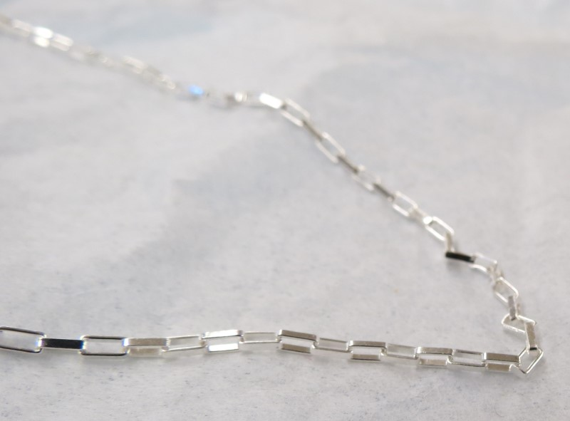 "18"" Long Box Link Silver Chain 925 Silver 2.4dwt"