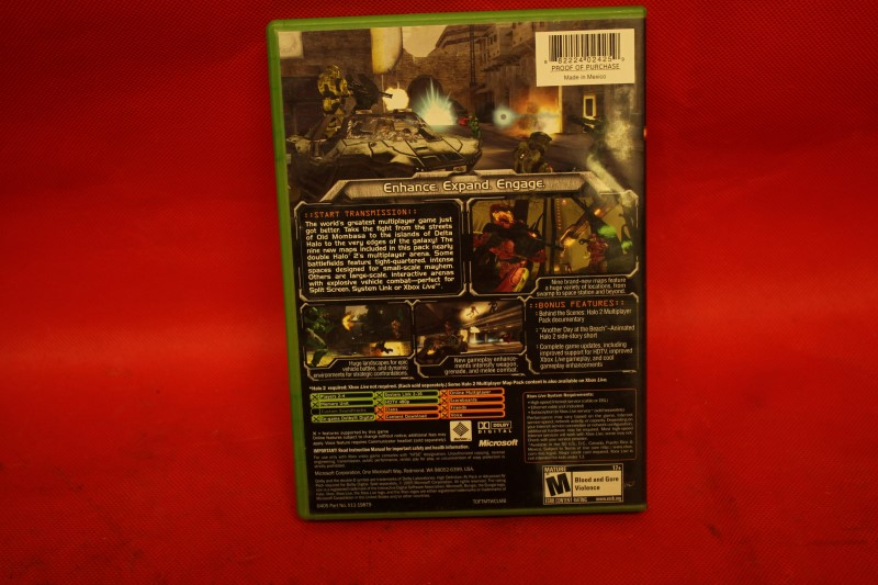 Halo 2 Multiplayer Map Pack (Microsoft Xbox, 2005) Tested & Working w/ Case