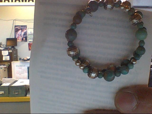 Green Stone Silver-Stone Bracelet 925 Silver 19.4g