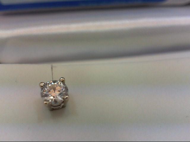 Gold-Diamond Earrings 2 Diamonds 1.00 Carat T.W. 14K White Gold 1.48g