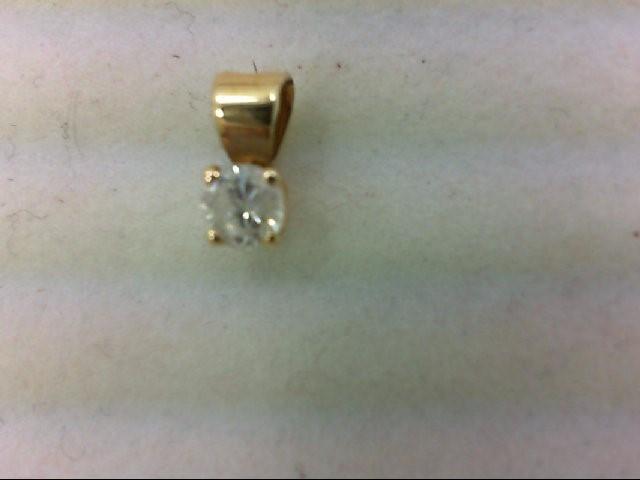 Gold-Diamond Solitaire Pendant .19 CT. 14K Yellow Gold 0.1g