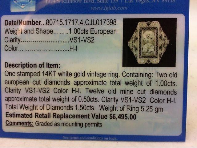 STUNNING LADIES VINTAGE EUROPEAN CUT DIAMOND RING