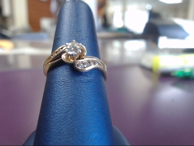 Lady's Diamond Fashion Ring 9 Diamonds .49 Carat T.W. 14K Yellow Gold 3.5g