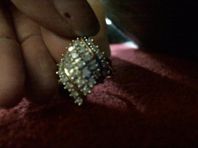 Gent's Diamond Cluster Ring 24 Diamonds .48 Carat T.W. 10K Yellow Gold 2.9dwt